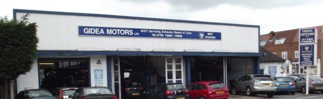 Gidea Motors Service for all vehicles. Gidea Park car and vehicle service, MOT, parts, repairs. Gidea Park garage.